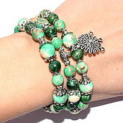 Украшения handmade. Livemaster - original item Multi-row bracelet made of natural stone variscite (m). Handmade.