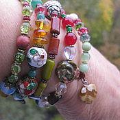 Украшения handmade. Livemaster - original item 08 LEO charm Bracelet 5 revs from natural stones Zodiac. Handmade.