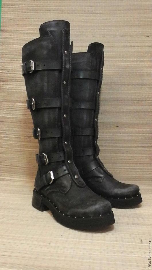 Обувь ручной работы. Ярмарка Мастеров - ручная работа. Купить сапоги женские Steel cage. Handmade. Темно-серый