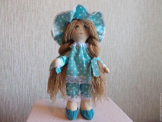 Коллекционные куклы ручной работы. Ярмарка Мастеров - ручная работа. Купить кукла интерьерная. Handmade. Бирюзовый, кукла интерьерная, трикотаж