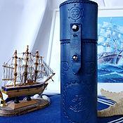 Сумки и аксессуары handmade. Livemaster - original item Case pencil case leather round. Handmade.