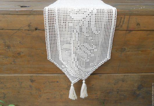 """Текстиль, ковры ручной работы. Ярмарка Мастеров - ручная работа. Купить """"Колокольчики"""" дорожка. Handmade. Дорожка на стол, колокольчики"""