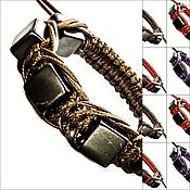 Украшения handmade. Livemaster - original item Shambhala made of natural shungite with different colors of cords (KV Arachna). Handmade.