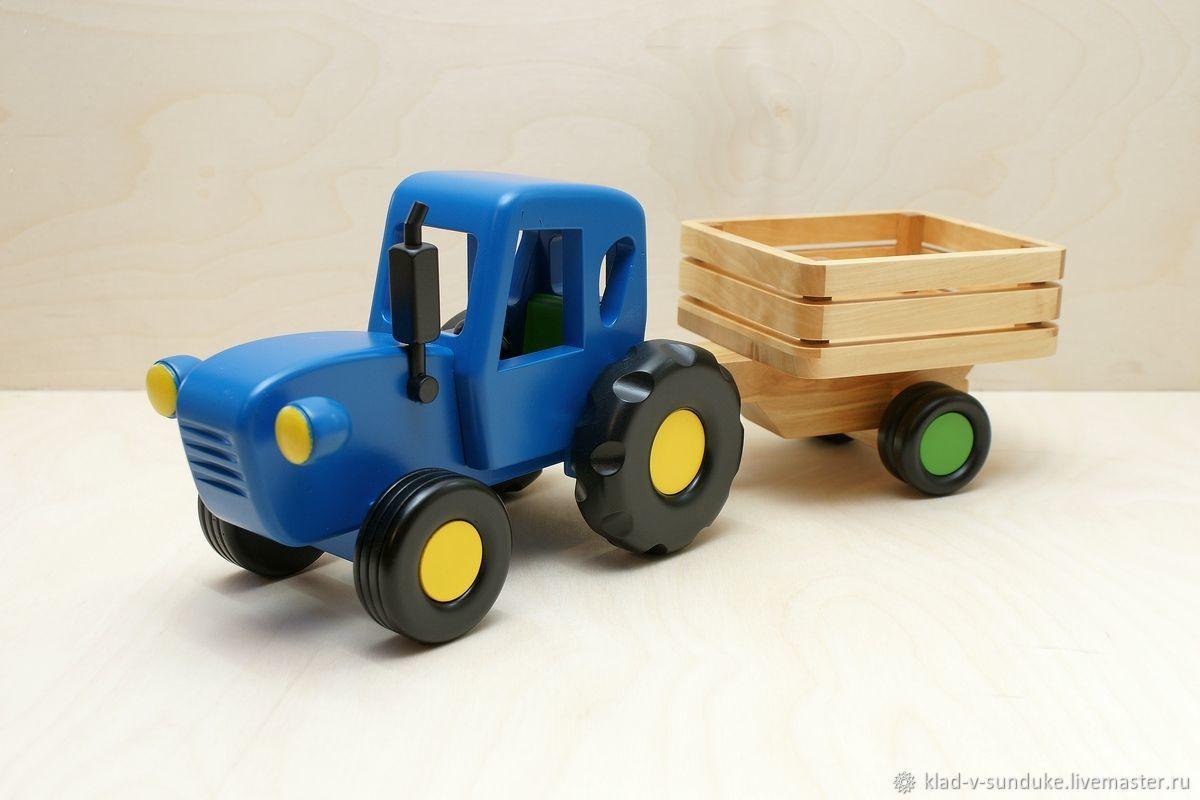 Синий трактор, Техника роботы транспорт, Здвинск,  Фото №1