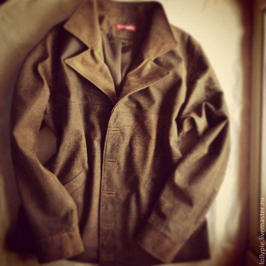 Верхняя одежда ручной работы. Ярмарка Мастеров - ручная работа. Купить Куртка Manclassic. Handmade. Коричневый, для мужчин, классика, на заказ