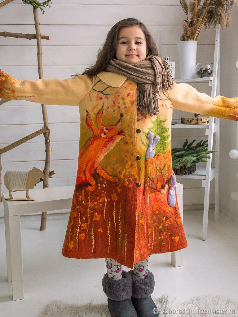 Пальто: Сказка про Лису и Зайцев, Верхняя одежда детская, Томск,  Фото №1