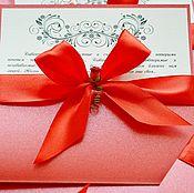 """Свадебный салон ручной работы. Ярмарка Мастеров - ручная работа Приглашение на свадьбу """"RED"""". Handmade."""