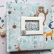 Фотоальбомы ручной работы. Ярмарка Мастеров - ручная работа Фотобук / фотоальбом для малыша. Handmade.