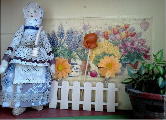 Народные куклы ручной работы. Ярмарка Мастеров - ручная работа. Купить Народная кукла Дуняша - оберег на благосостояние. Handmade. Голубой