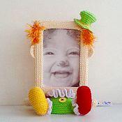Для дома и интерьера ручной работы. Ярмарка Мастеров - ручная работа Вязаная крючком фоторамка Клоун. Handmade.