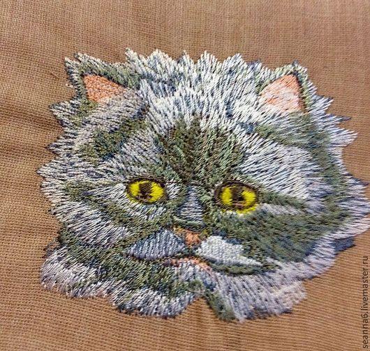 """Животные ручной работы. Ярмарка Мастеров - ручная работа. Купить Картинка вышитая, картина, панно """"Персик нежный"""". Handmade."""