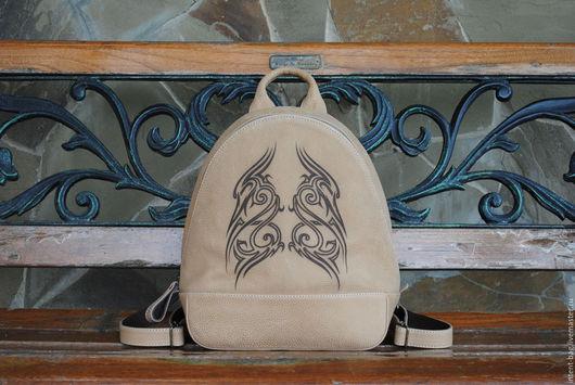Рюкзаки ручной работы. Ярмарка Мастеров - ручная работа. Купить С028. Handmade. Бежевый, рюкзак ручной работы, натуральная кожа