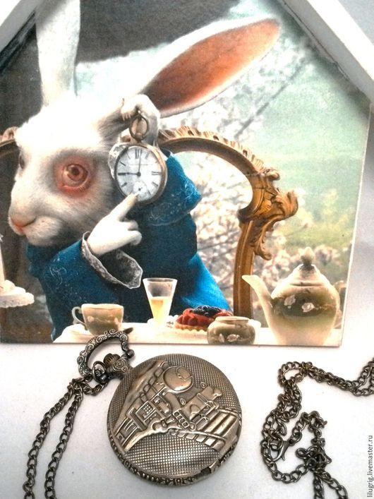 """Часы ручной работы. Ярмарка Мастеров - ручная работа. Купить Часы карманные """"Поезд"""". Handmade. Часы, стимпанк украшения, мужчине"""