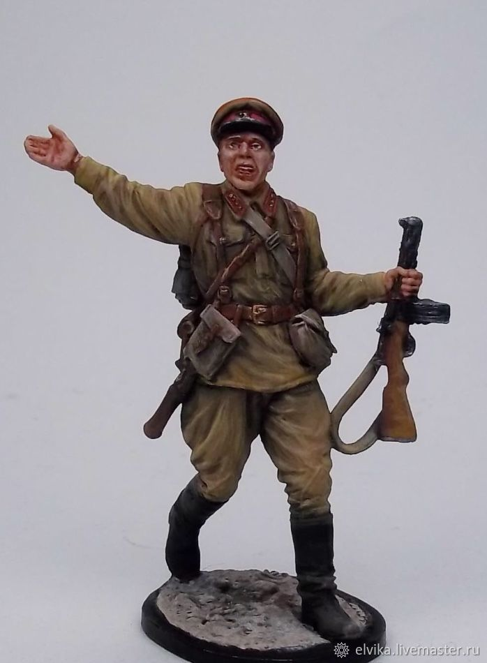 Tin soldier 54mm, Military miniature, St. Petersburg,  Фото №1