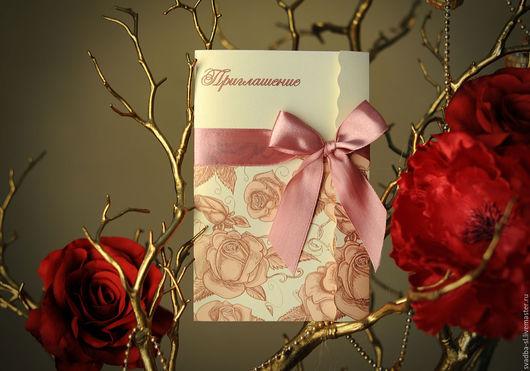 Приглашение на свадьбу  `Золотая роза`