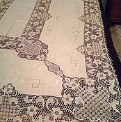 Винтаж ручной работы. Ярмарка Мастеров - ручная работа Венецианская скатерть с  кружевом Бурано. Handmade.