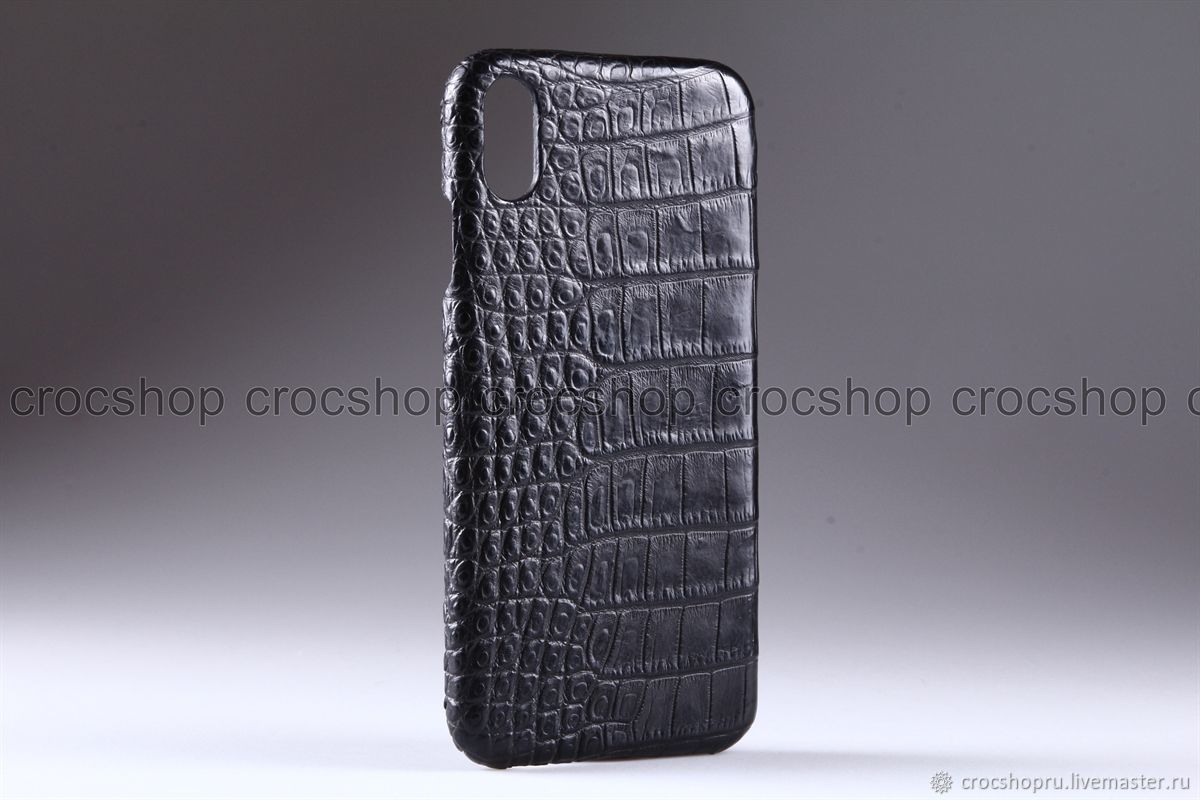 purchase cheap 36521 f0a70 Case for iPhone X, XS, XS Max crocodile leather, handmade – shop online on  Livemaster with shipping - HQ2PLCOM | Moscow