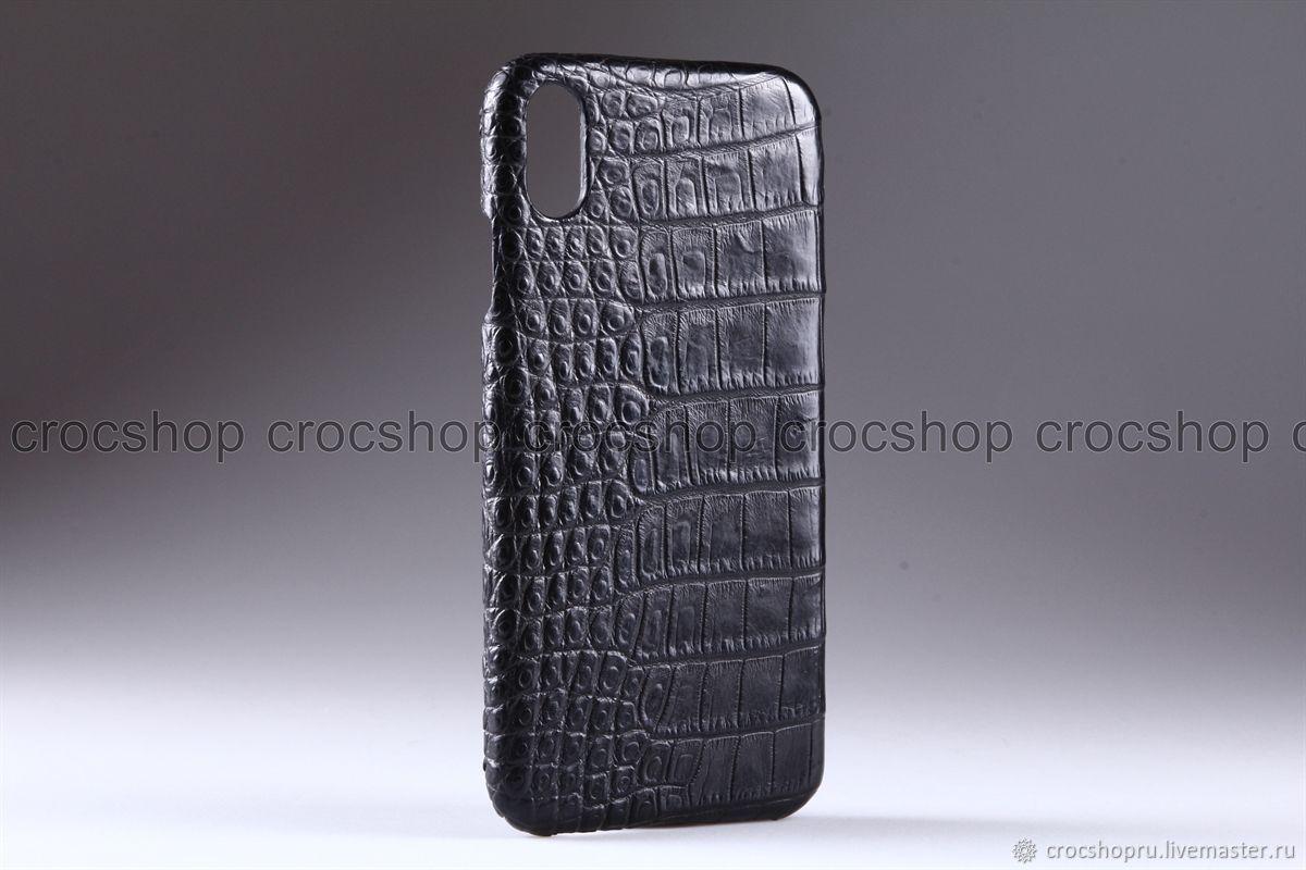 Чехол для iPhone X, XS, XS Max из кожи крокодила, ручная работа, Чехлы, Москва, Фото №1