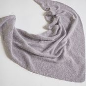 Аксессуары handmade. Livemaster - original item scarves: Mink/angora knitted kerchief light grey fluffy kerchief. Handmade.