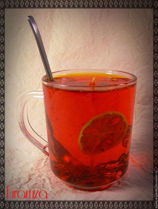 Свечи ручной работы. Ярмарка Мастеров - ручная работа. Купить Гелевая свеча Чай с лимоном. Handmade. Гелевая свеча, чайная