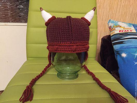 """Шапки и шарфы ручной работы. Ярмарка Мастеров - ручная работа. Купить детская шапка """"Викинг"""". Handmade. Шапка викинга"""