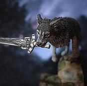 Куклы и игрушки ручной работы. Ярмарка Мастеров - ручная работа Великий волк фигурка Dark Souls Сиф. Handmade.