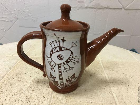 """Чайники, кофейники ручной работы. Ярмарка Мастеров - ручная работа. Купить Чайник """"одуванчик"""". Handmade. Комбинированный, чайник с росписью"""