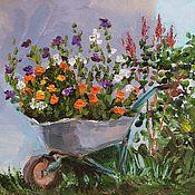 Картины и панно handmade. Livemaster - original item Country flowers. Handmade.
