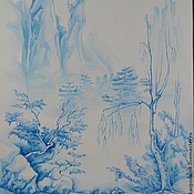 """Подарки к праздникам ручной работы. Ярмарка Мастеров - ручная работа картина """"Туман"""". Handmade."""