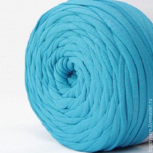 Вязание ручной работы. Ярмарка Мастеров - ручная работа. Купить Трикотажная пряжа. Цвет - Голубой. Handmade. Пряжа для вязания