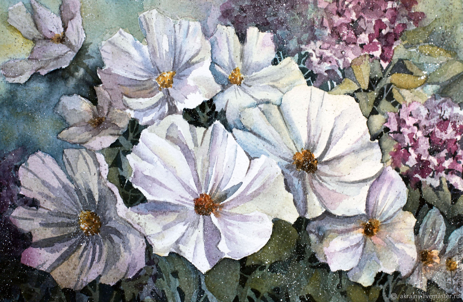 Watercolor painting ' Spring awakening', Pictures, Moscow,  Фото №1