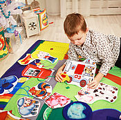 """Куклы и игрушки ручной работы. Ярмарка Мастеров - ручная работа Развивающий коврик """"Мой маленький мир"""" 5. Handmade."""