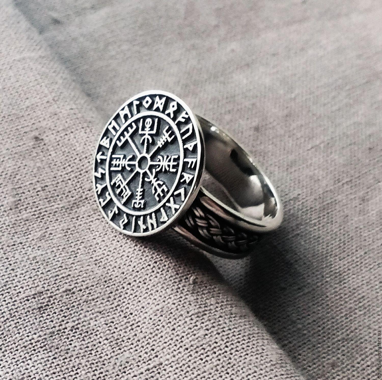 "Silver ring ""Vegvisir"", Folk decorations, Moscow,  Фото №1"