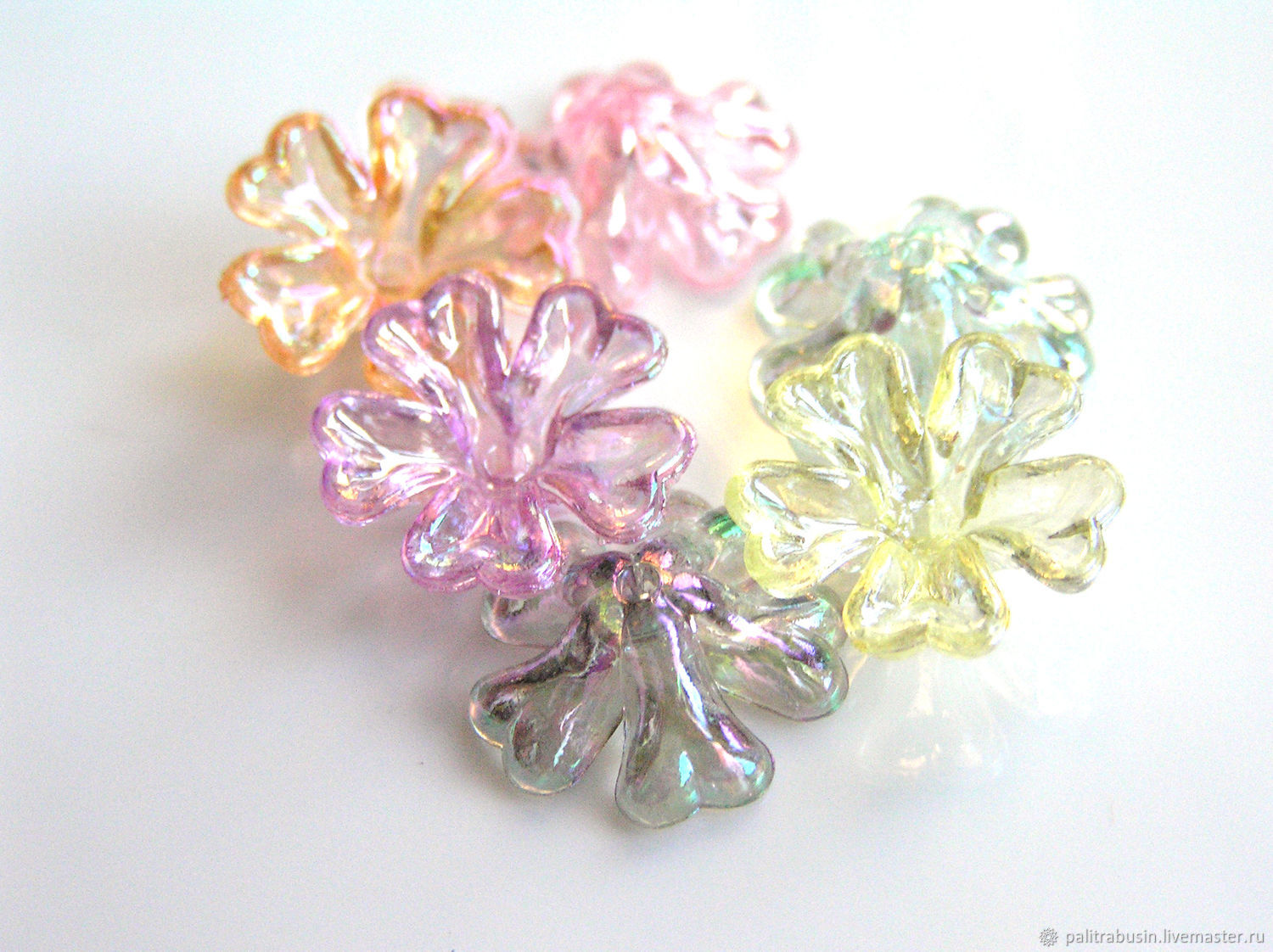 Acrylic spacer beads flowers, Beads1, Tyumen,  Фото №1