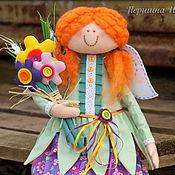 Куклы и игрушки ручной работы. Ярмарка Мастеров - ручная работа Девочка весна. Солнце в каждый дом! - БРОНЬ. Handmade.