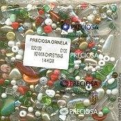 Материалы для творчества handmade. Livemaster - original item 20 g Christmas MIX Czech beads Preciosa. Handmade.