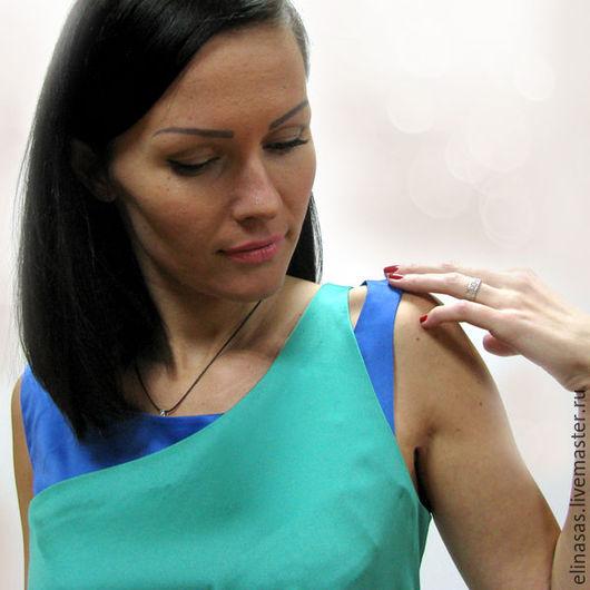 """Платья ручной работы. Ярмарка Мастеров - ручная работа. Купить Платье """"Изумруд"""". Handmade. Тёмно-бирюзовый, синий"""