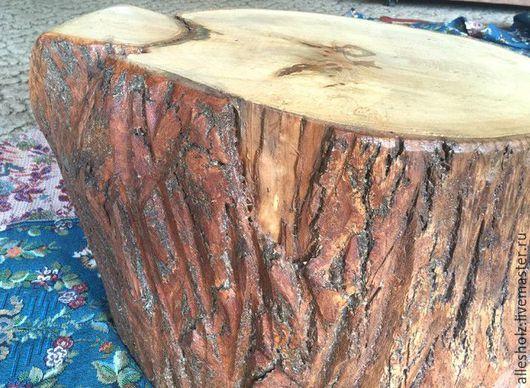 Мебель ручной работы. Ярмарка Мастеров - ручная работа. Купить Пень липовый с корой. Handmade. Пень, натуральное дерево, дерево