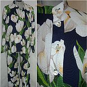 """Одежда ручной работы. Ярмарка Мастеров - ручная работа Костюм для дома"""" Тюльпаны""""  / пижама.. Handmade."""