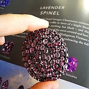 Украшения handmade. Livemaster - original item Brooch-pendant lilac color. Spinel, silver. Handmade.