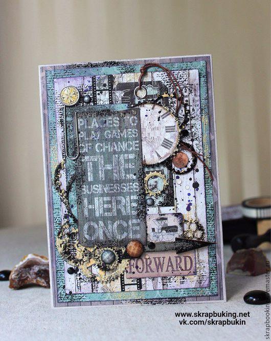 Мужская открытка от мастерской скрапбукинга Living History