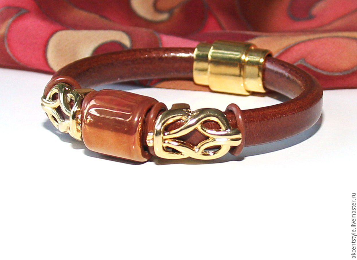 Купить цены кожаные браслеты из