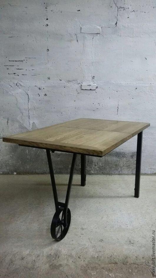 Мебель ручной работы. Ярмарка Мастеров - ручная работа. Купить Стол раздвижной в стиле Лофт. Handmade. Стол, индустриальный
