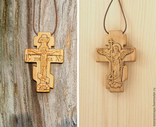 Крест-распятие из кипариса с Ангелом-Хранителем на обороте. Крест с распятием. Крест деревянный. Крест из дерева. Кипарисовый крест. Ангел. Ангел-хранитель.
