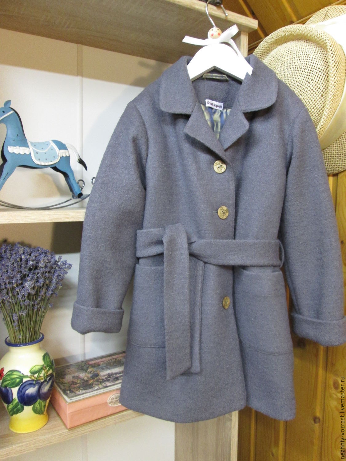 Insulated coat 'Scent of lavender', Childrens outerwears, Voskresensk,  Фото №1