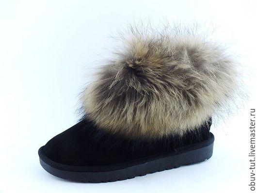 Обувь ручной работы. Ярмарка Мастеров - ручная работа. Купить Угги замшевые синие 35,36,37,38,39,40,41. Handmade.