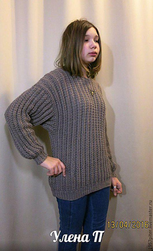 Кофты и свитера ручной работы. Ярмарка Мастеров - ручная работа. Купить джемпер оверсайз.Молодежный. Handmade. Коричневый, стиль винтаж