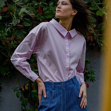 Одежда ручной работы. Ярмарка Мастеров - ручная работа Рубашка женская на пуговицах. Handmade.