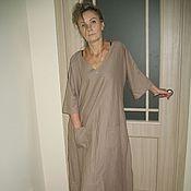 Одежда ручной работы. Ярмарка Мастеров - ручная работа бохо платье (лен). Handmade.
