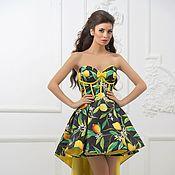 Одежда ручной работы. Ярмарка Мастеров - ручная работа каскадное платье лимончики. Handmade.